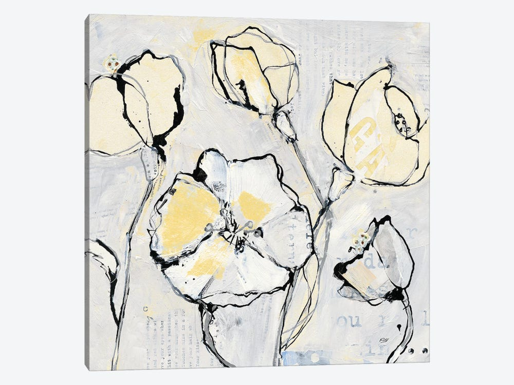 16 Again III: With Yellow by Kellie Day 1-piece Canvas Wall Art
