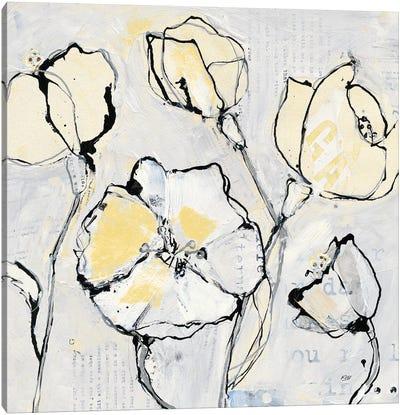 16 Again III: With Yellow Canvas Art Print