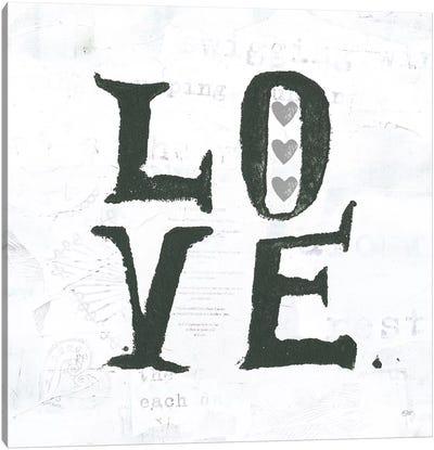 Love: Gray Hearts Canvas Art Print
