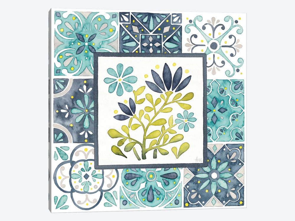 Garden Getaway Patchwork III by Laura Marshall 1-piece Canvas Print