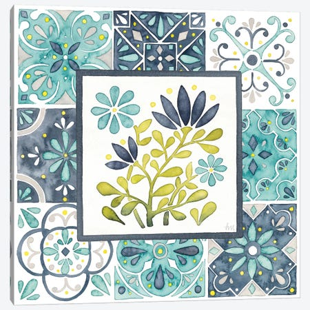 Garden Getaway Patchwork III Canvas Print #WAC7777} by Laura Marshall Canvas Artwork