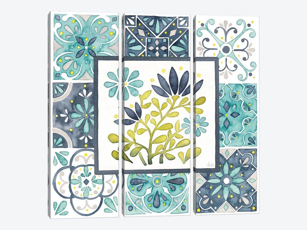 Garden Getaway Patchwork III by Laura Marshall 3-piece Canvas Art Print