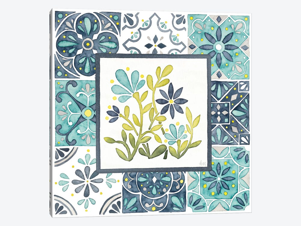Garden Getaway Patchwork IV by Laura Marshall 1-piece Canvas Wall Art