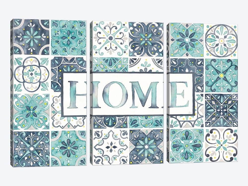 Garden Getaway: Home by Laura Marshall 3-piece Canvas Art Print