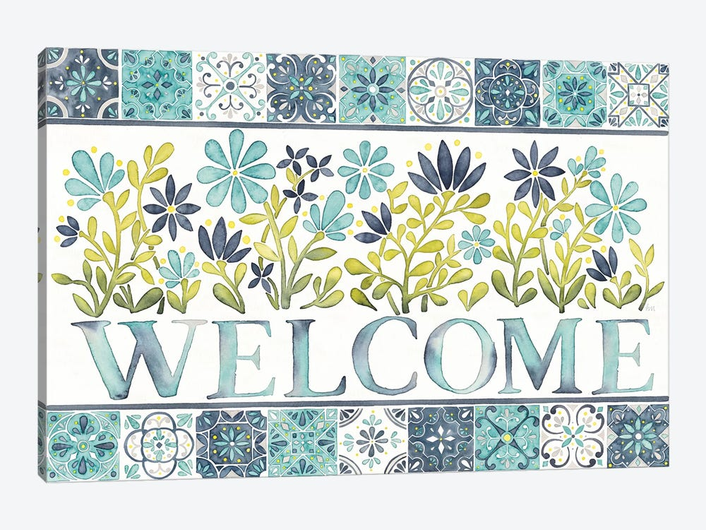 Garden Getaway: Welcome by Laura Marshall 1-piece Art Print