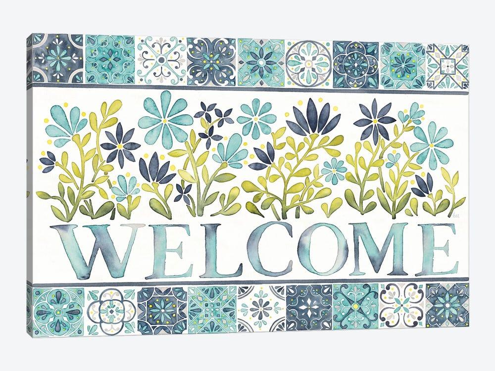 Garden Getaway: Welcome by Laura Marshall 1-piece Art Print