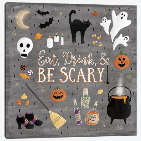 Haunted Halloween I Canvas Print #WAC7781} by Laura Marshall Canvas Artwork