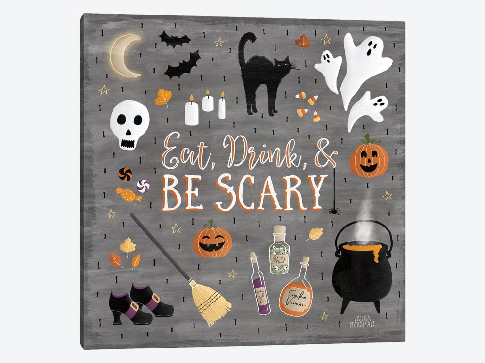 Haunted Halloween I by Laura Marshall 1-piece Canvas Wall Art