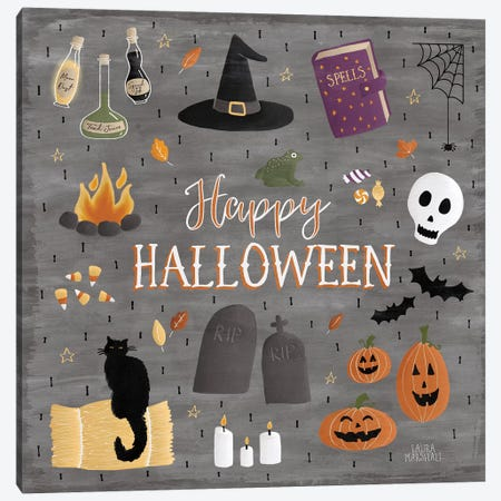 Haunted Halloween II Canvas Print #WAC7782} by Laura Marshall Canvas Art
