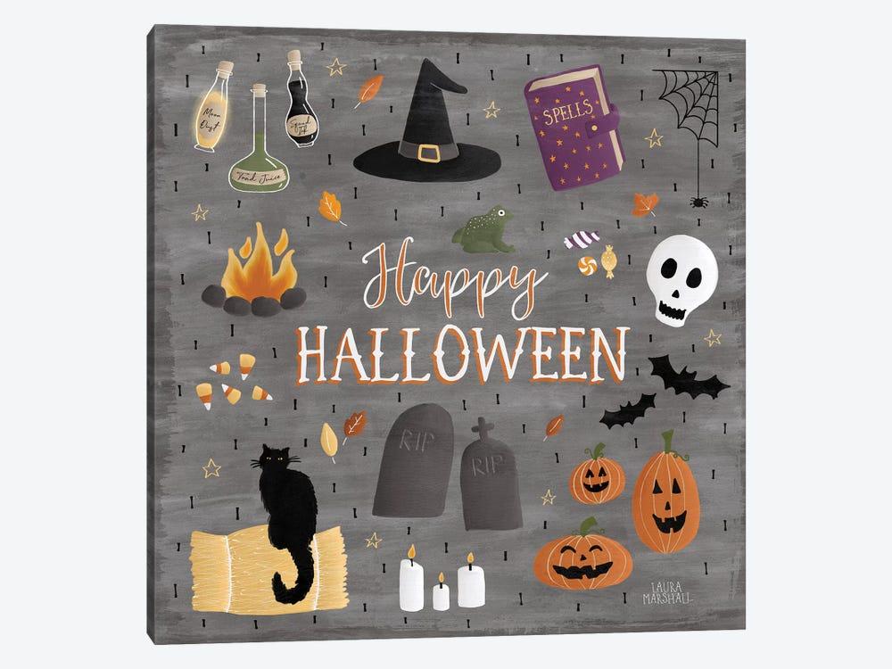 Haunted Halloween II by Laura Marshall 1-piece Canvas Print