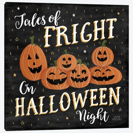 Haunted Halloween VII Canvas Print #WAC7786} by Laura Marshall Canvas Print