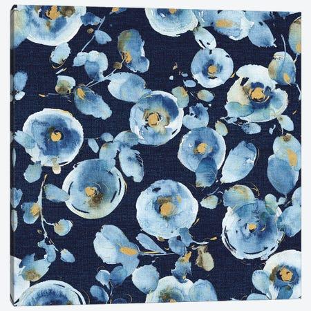 Indigold Flower Toss Indigo Canvas Print #WAC7797} by Lisa Audit Canvas Art