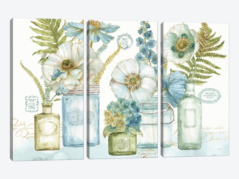 My Greenhouse Bouquet I by Lisa Audit 3-piece Canvas Wall Art