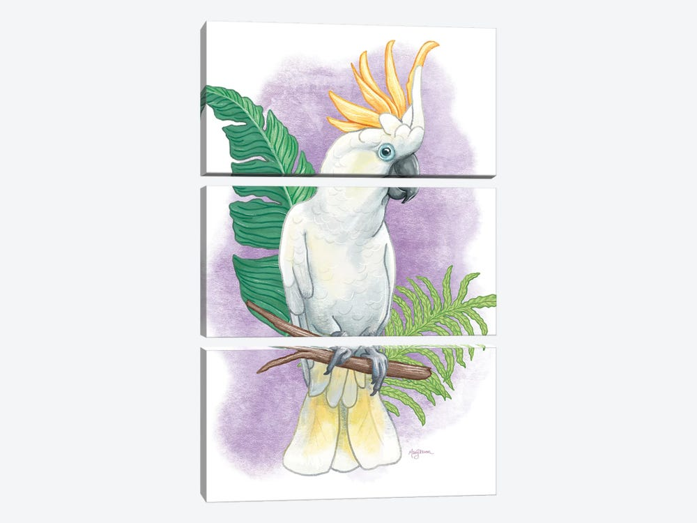 Tropical Flair III by Mary Urban 3-piece Canvas Print