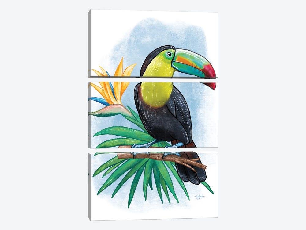 Tropical Flair IV by Mary Urban 3-piece Canvas Art