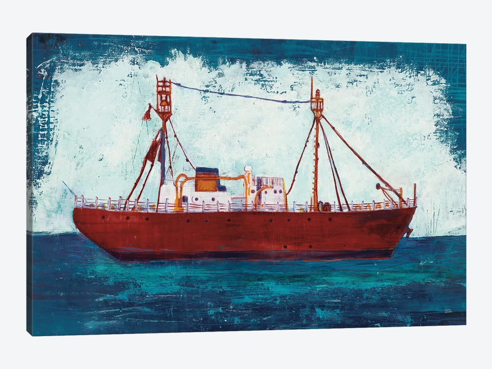 Nantucket Lightship Navy by Melissa Averinos 1-piece Canvas Wall Art