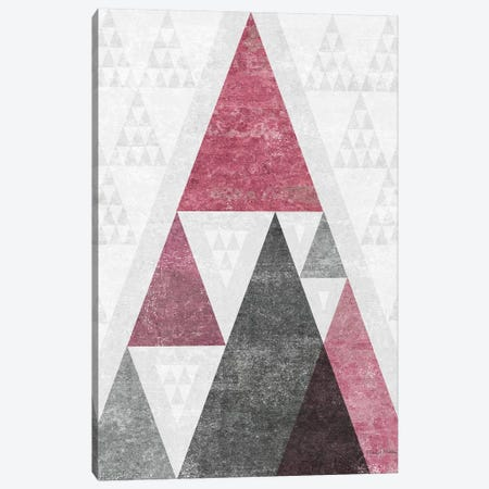 Mod Triangles, Soft Pink III Canvas Print #WAC7851} by Michael Mullan Canvas Wall Art