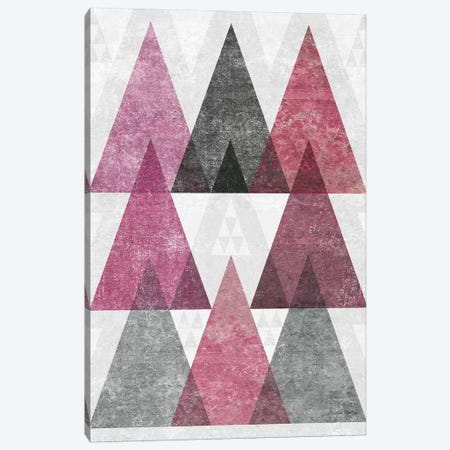 Mod Triangles, Soft Pink IV Canvas Print #WAC7852} by Michael Mullan Canvas Art