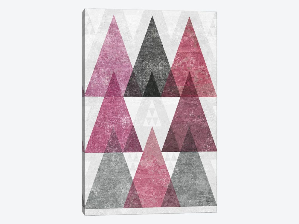 Mod Triangles, Soft Pink IV by Michael Mullan 1-piece Canvas Art