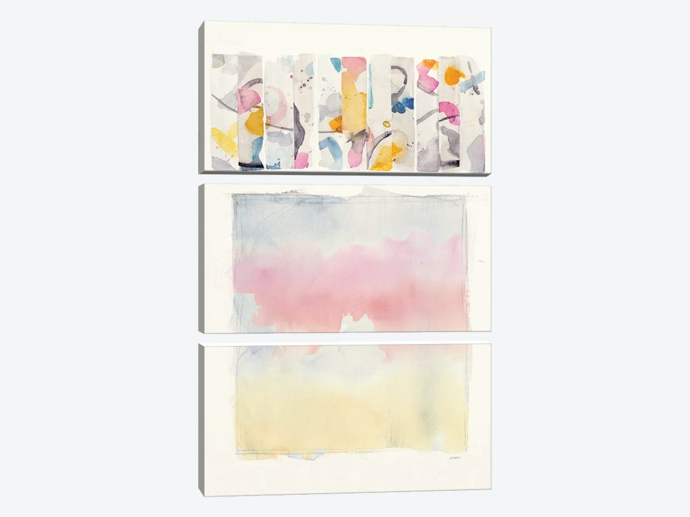 Day Dream Watercolor by Mike Schick 3-piece Canvas Art Print