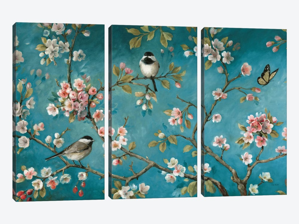 Blossom V by Lisa Audit 3-piece Canvas Wall Art