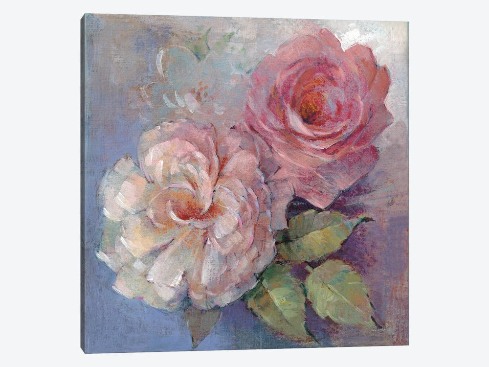 Roses On Blue I by Peter McGowan 1-piece Art Print