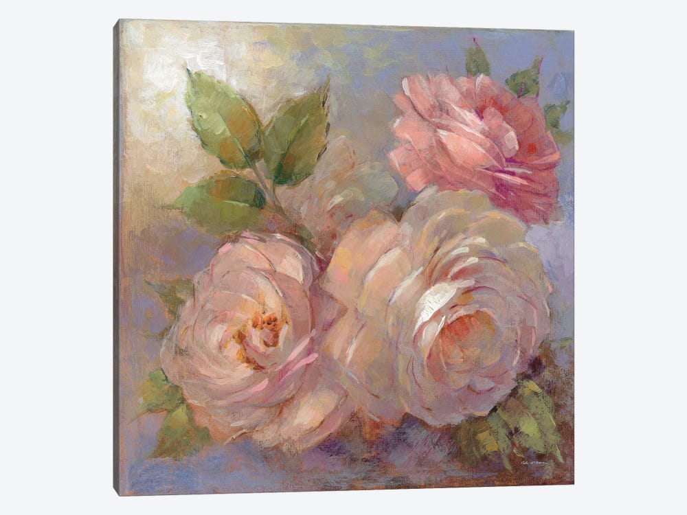 Roses On Blue II by Peter McGowan 1-piece Canvas Art