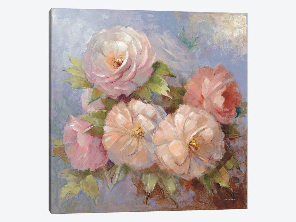 Roses On Blue III 1-piece Art Print