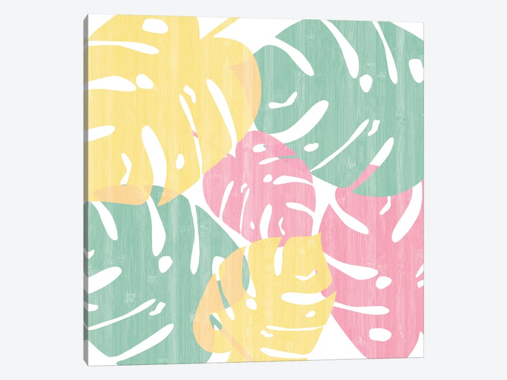 Monstera Bright On White I by Sarah Adams 1-piece Canvas Art