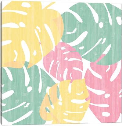 Monstera Bright On White I Canvas Art Print