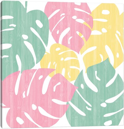 Monstera Bright On White II Canvas Art Print