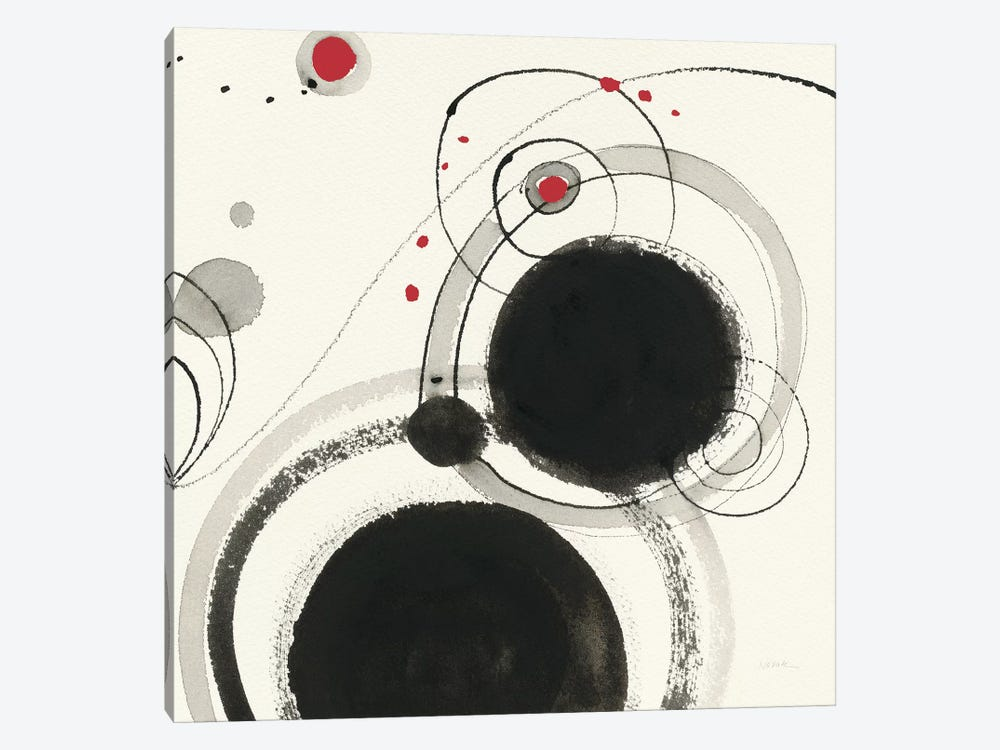 Planetary III: With Red by Shirley Novak 1-piece Canvas Art