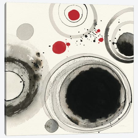 Planetary IV: With Red Canvas Print #WAC7886} by Shirley Novak Canvas Artwork