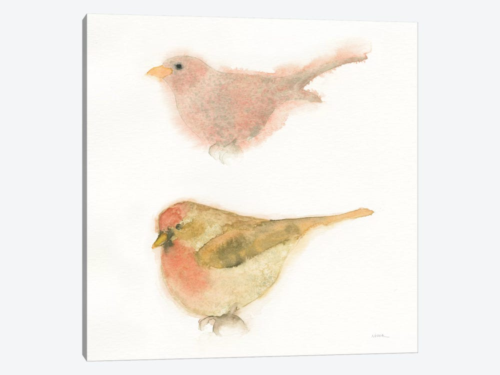 Watercolor Birds II by Shirley Novak 1-piece Canvas Art Print