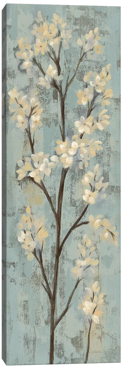 Almond Branch I: On Light Blue Canvas Art Print