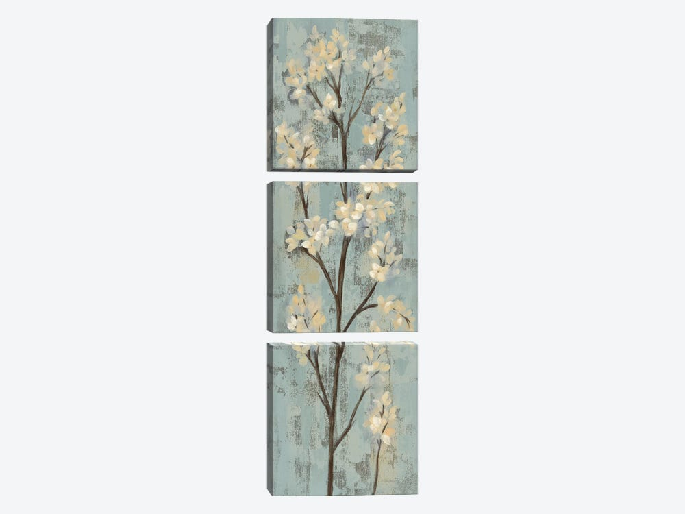 Almond Branch I: On Light Blue 3-piece Canvas Wall Art