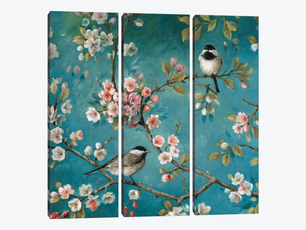 Blossom I by Lisa Audit 3-piece Canvas Print