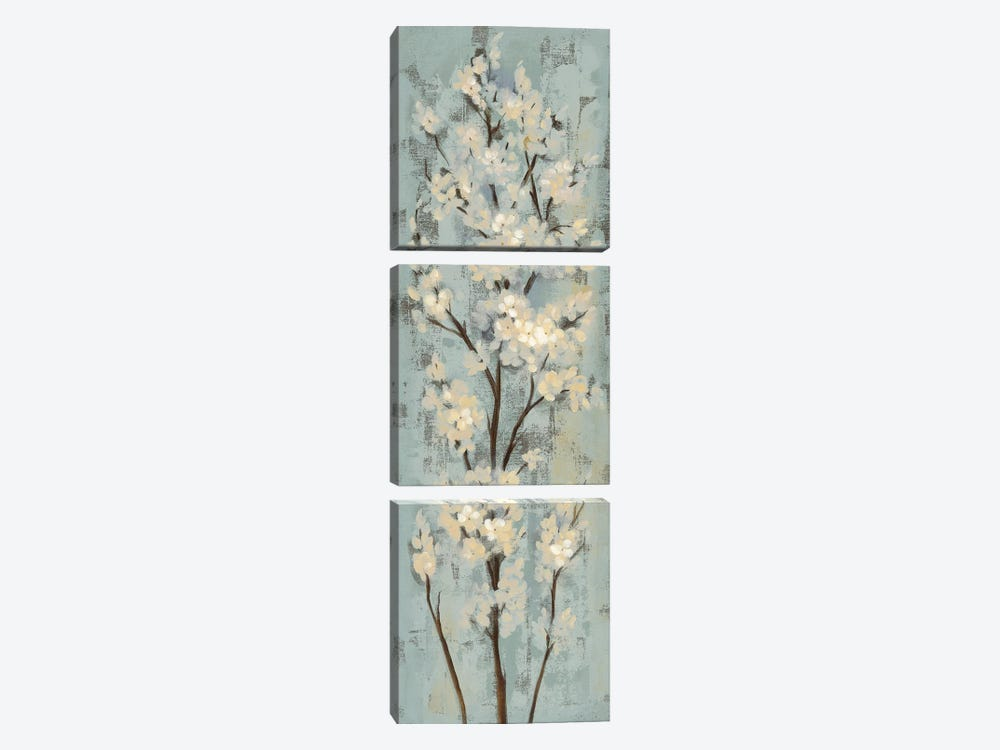 Almond Branch II: On Light Blue 3-piece Canvas Art
