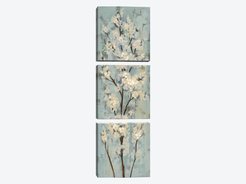 Almond Branch II: On Light Blue by Silvia Vassileva 3-piece Canvas Art