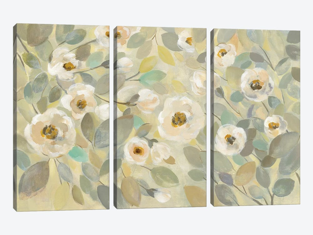 Blooming Branches Flower by Silvia Vassileva 3-piece Canvas Art Print