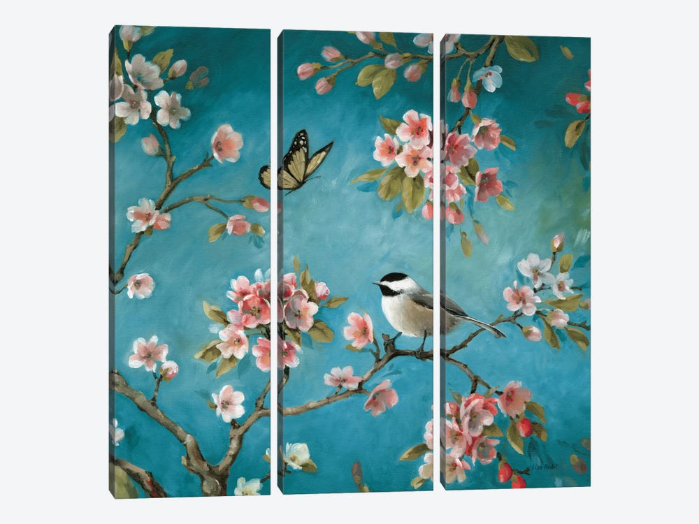 Blossom II by Lisa Audit 3-piece Canvas Art