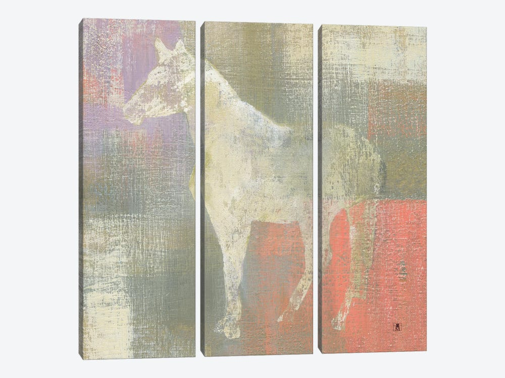 Dusk Pony by Studio Mousseau 3-piece Canvas Print