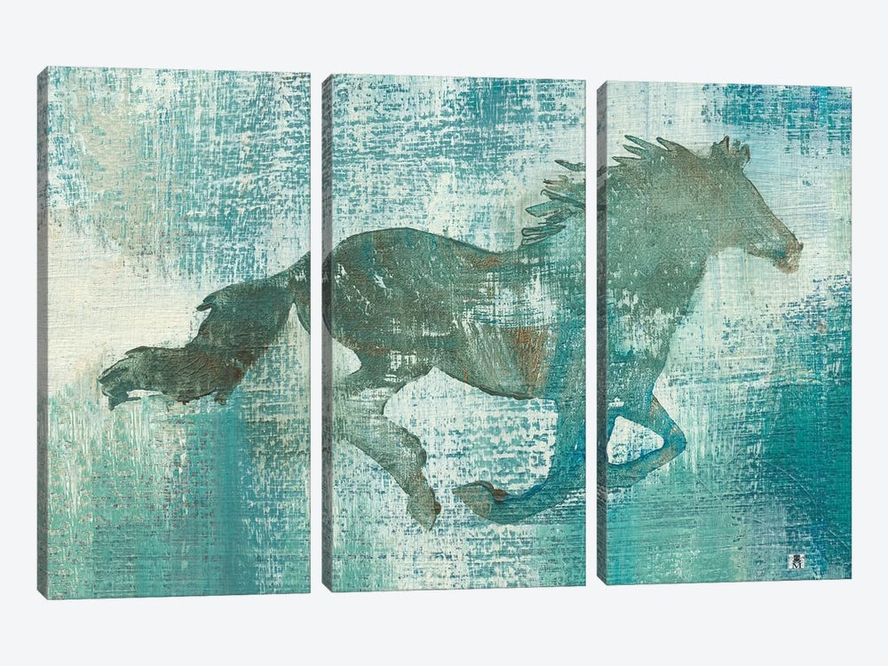 Mustang Study by Studio Mousseau 3-piece Canvas Wall Art