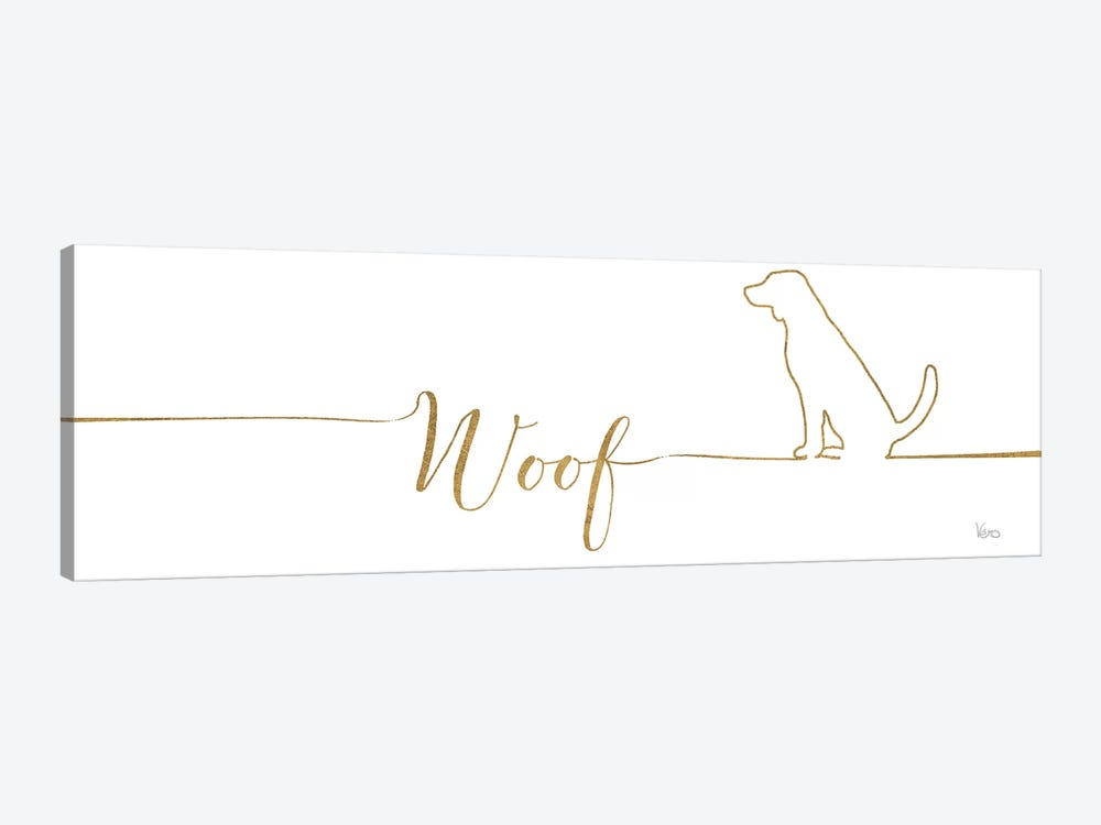 Underlined Dogs IV 1-piece Canvas Art Print
