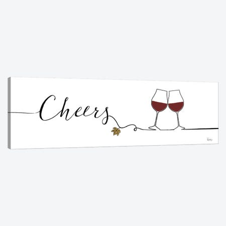 Underlined Wine I Canvas Print #WAC7945} by Veronique Charron Canvas Art Print