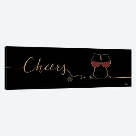 Underlined Wine On Black I Canvas Print #WAC7949} by Veronique Charron Canvas Wall Art