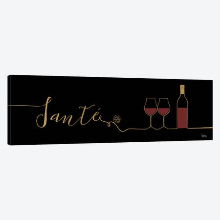 Underlined Wine On Black II Canvas Print #WAC7950} by Veronique Charron Art Print