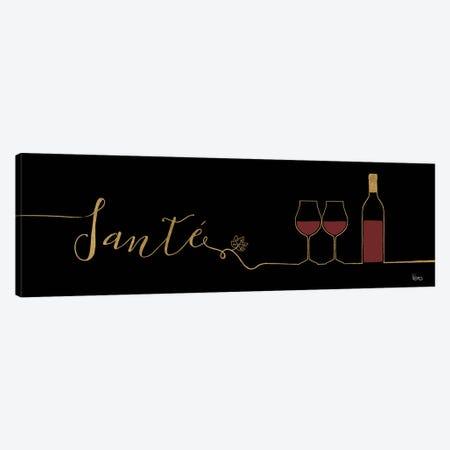 Underlined Wine On Black II Canvas Print #WAC7950} by Veronique Charron Art Print