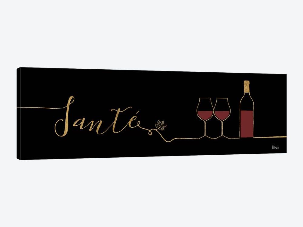 Underlined Wine On Black II by Veronique Charron 1-piece Art Print