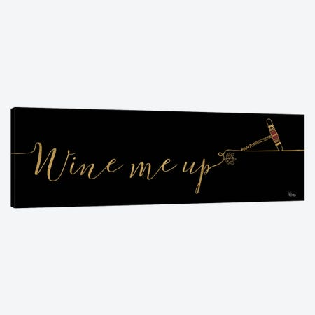 Underlined Wine On Black III Canvas Print #WAC7951} by Veronique Charron Art Print